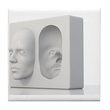 Hollow-face illusion,artwork Tile Coaster