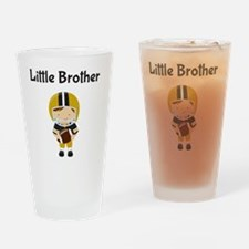 Little Brother Football Drinking Glass