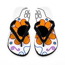 Mariposa Sugar Skull Flip Flops