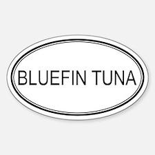 Oval Design: BLUEFIN TUNA Oval Decal