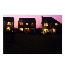 Houses at dusk Postcards (Package of 8)