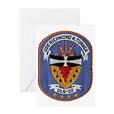 uss richmond k. turner dlg patch tra Greeting Card
