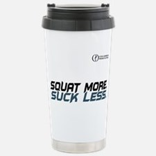 Squat More. Suck Less Stainless Steel Travel Mug