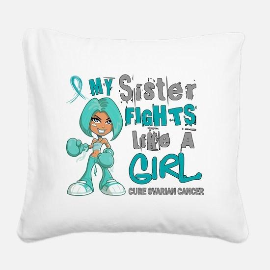 D Square Canvas Pillow