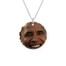 Obama Head Necklace Circle Charm