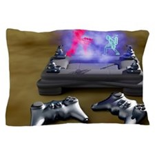 Holographic games machine, artwork Pillow Case