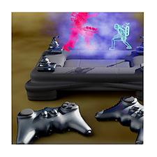 Holographic games machine, artwork Tile Coaster