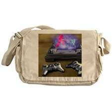 Holographic games machine, artwork Messenger Bag