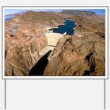 Hoover hydroelectric dam, Colorado River Yard Sign