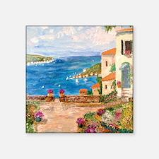 """Greek Garden Square Sticker 3"""" x 3"""""""
