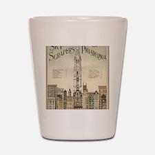 Skyscrapers Of Philadelphia Shot Glass