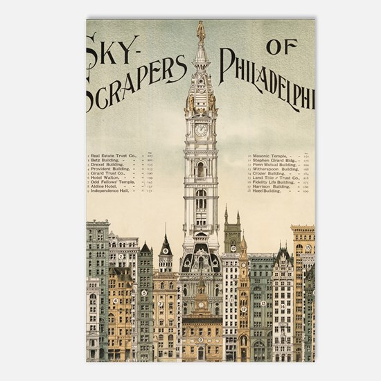 Skyscrapers Of Philadelph Postcards (Package of 8)