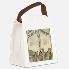 Skyscrapers Of Philadelphia Canvas Lunch Bag
