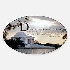Thomas Jefferson wisdom Sticker (Oval)