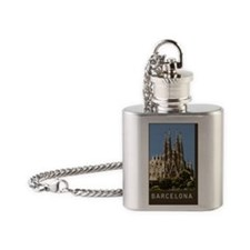 Barcelona Sagrada Familia Flask Necklace