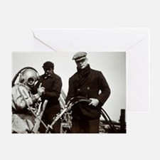 Historical diving suit Greeting Card