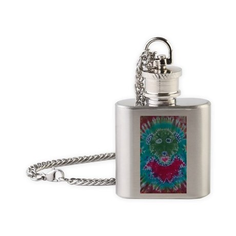 Tie Dyed Jerry Bear Flask Necklace
