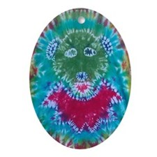 Tie Dyed Jerry Bear Oval Ornament