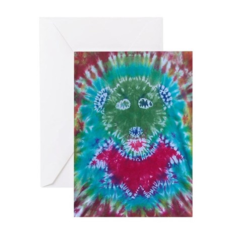 Tie Dyed Jerry Bear Greeting Card