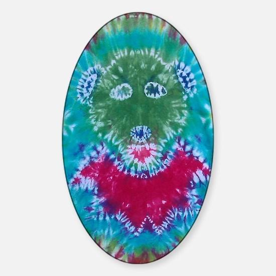 Tie Dyed Jerry Bear Sticker (Oval)