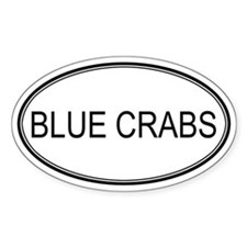 Oval Design: BLUE CRABS Oval Decal