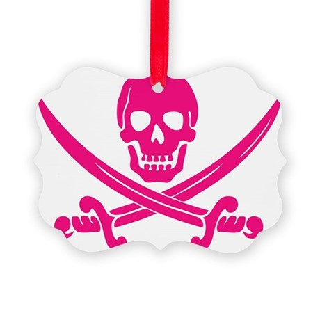 Pink Calico Jack Picture Ornament