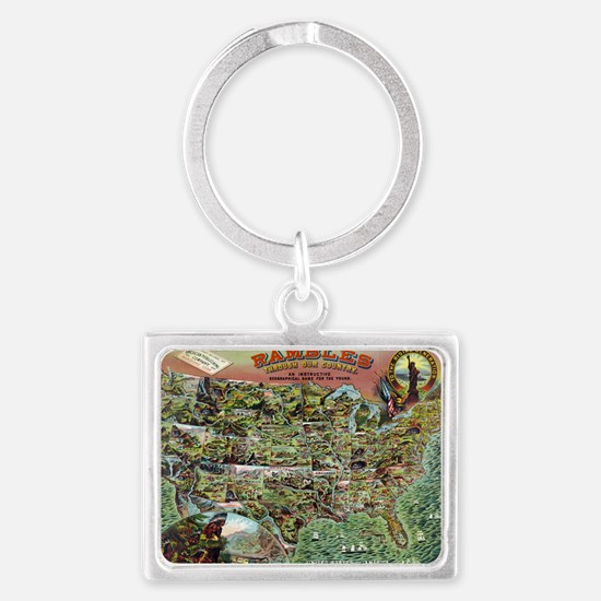 Rambles through our country Landscape Keychain