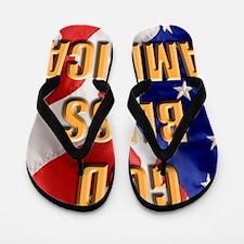 God Bless America Flip Flops