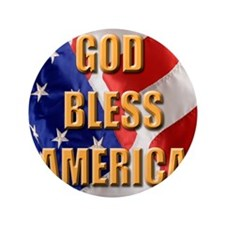 "God Bless America 3.5"" Button"