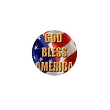 God Bless America Mini Button
