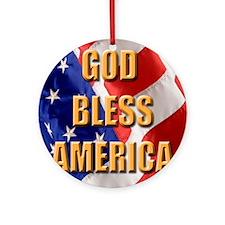 God Bless America Round Ornament