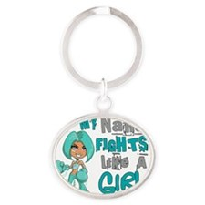 D Oval Keychain