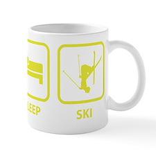 EatSleepSki1E Small Mug