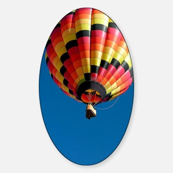 Hot air balloon Sticker (Oval)