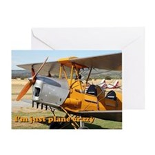 I'm just plane crazy: Tiger Moth Greeting Card