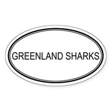 Oval Design: GREENLAND SHARKS Oval Decal
