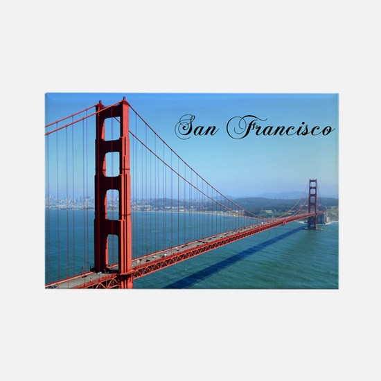 SF_10X8_GoldenGateBridge Rectangle Magnet