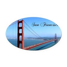 SF_10X8_GoldenGateBridge Oval Car Magnet