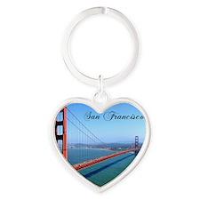 SF_10X8_GoldenGateBridge Heart Keychain