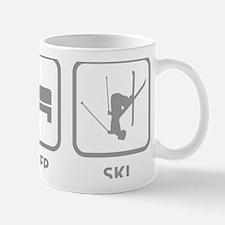 EatSleepSki1C Small Small Mug