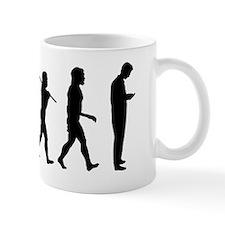 Evolution of man texting 1 Mug