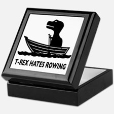 t-rex hates rowing Keepsake Box