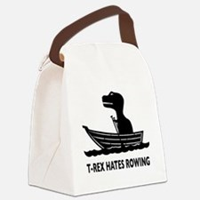 t-rex hates rowing Canvas Lunch Bag