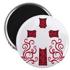 cross skull devil satan antichrist metal ro Magnet