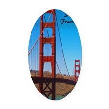 SF_5.5x8.5_Journal_GoldenGateBridg Oval Car Magnet