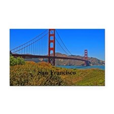 SF_4.25x5.5_NoteCard_GoldenGa Rectangle Car Magnet
