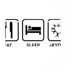 EatSleepSkydive2A Aluminum License Plate