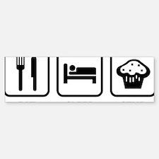 EatSleepStud1A Sticker (Bumper)