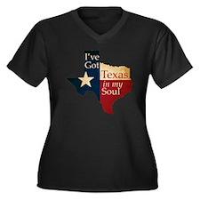 Ive Got Texa Women's Plus Size Dark V-Neck T-Shirt