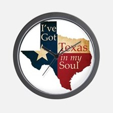 Ive Got Texas in my Soul Wall Clock